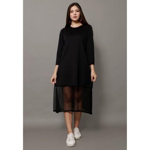 Foto Produk Yoenik Apparel Mells Tile Polka Dress Black M15329 R71S5 dari Yoenik Apparel