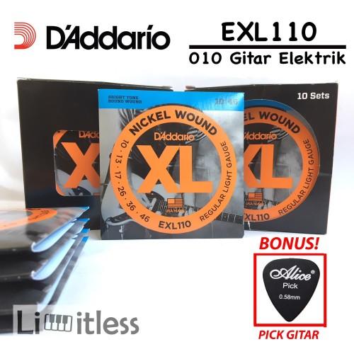 Foto Produk Daddario EXL110 EXL 110 Senar Dadario Gitar Elektrik Original USA dari Limit-less Store