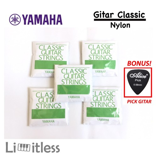 Foto Produk Senar Yamaha Gitar Klasik Nylon Original dari Limit-less Store