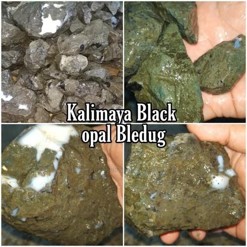 Foto Produk Bahan Batu Black Opal Kalimaya Bledug Boulder MAJA BANTEN Bakat Jarong dari Poetra Gems Stone