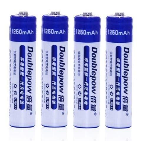 Foto Produk Baterai Battery Batre AAA Recharge Rechargeable 1250mah DoublePow 1Pc dari lbagstore