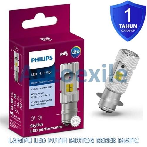 Foto Produk Philips Ultinon Essential Moto LED M5 H6 Kaki1 Putih Lampu Motor Bebek dari Autoexile