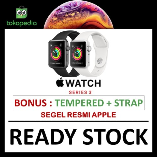 Foto Produk Apple Watch Series 3 GPS 42mm space grey alum black sport band MQL12 - NO BONUS dari Big Berry Cellular
