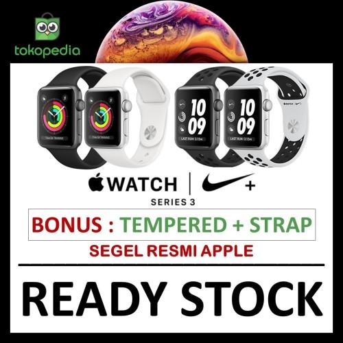 Foto Produk iWatch Series 3 GPS Nike 42mm 38mm Gray Grey Black / Silver White Band - NO BONUS, 38MM NIKE dari Big Berry Cellular