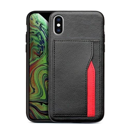 Foto Produk CASING IPHONE XS/X WITH CARD SLOT PREMIUM BLACK dari BANDAR AKSESORIS