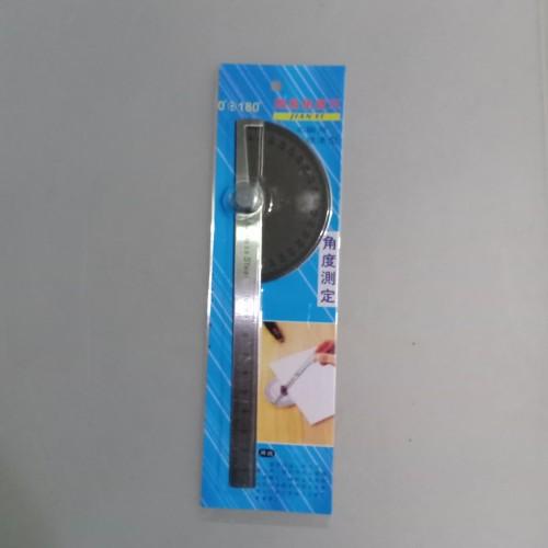 Foto Produk Protactor busur derajat stainless alat ukur sudut penggaris sudut dari Edisan shop