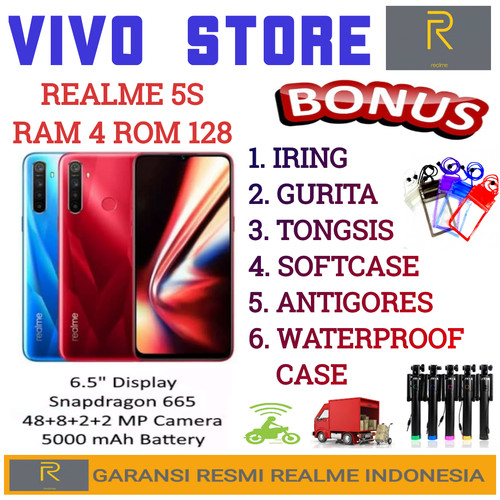 Foto Produk REALME 5S RAM 4/128GB GARANSI RESMI REALME INDONESIA - crystal blue dari VIVO ST0RE