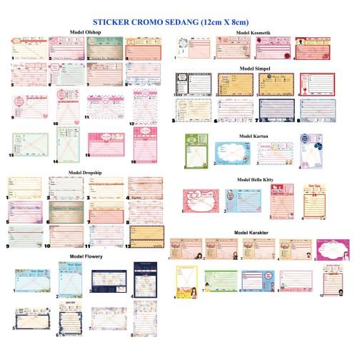 Foto Produk Sticker Label Pengiriman Online Shop Ukuran Sedang dari Irmutz Collection