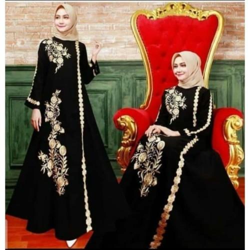 Foto Produk Exclusive Abaya Bordir Salsabila By Salaf Boutique Bahan Jetblack dari Abaya Gamis Jubah