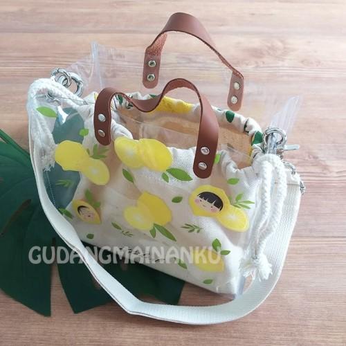 Foto Produk BAG + POUCH Ittaherl Clear Transparent Lemon Bag Tas Bali Bound dari Gudangmainanku
