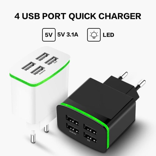 Foto Produk Charger PINZY 4 port usb with Led T22 Series - Putih dari PINZY Official Store