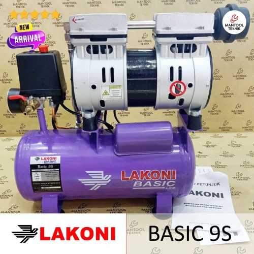 Foto Produk FRESCO BASIC 9S LAKONI Oilless Compressor Kompresor 3/4HP 8L dari Mantool Teknik