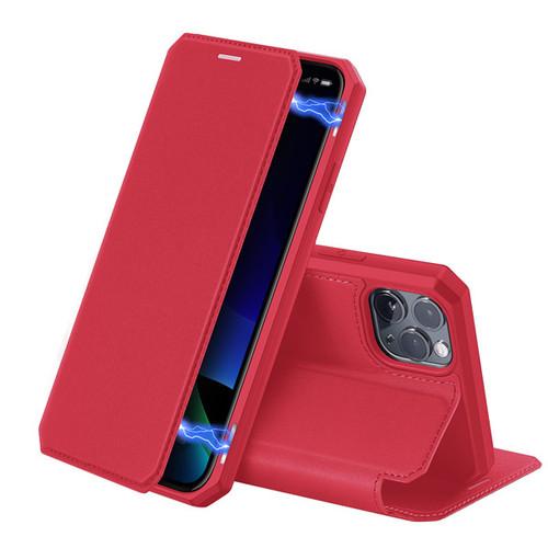 Foto Produk Case Iphone 11 Pro Max - SKIN X Series, Dux Ducis Premium Flip Case - Merah dari Gojali