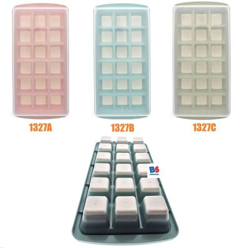 Foto Produk Ice Cube Tray Silicone w/ Lid - Cetakan Es Batu Silikon dg Tutup |1327 - Merah Muda dari Box Hunter
