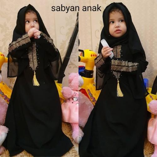 Foto Produk Abaya Gamis syari asdf hitam arab sabyan anak dari GrosirAbaya