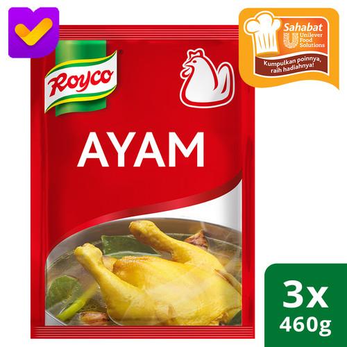Foto Produk Royco Bumbu Penyedap Rasa Ayam Pouch 460g - 3 Pouch dari Unilever Food Solution