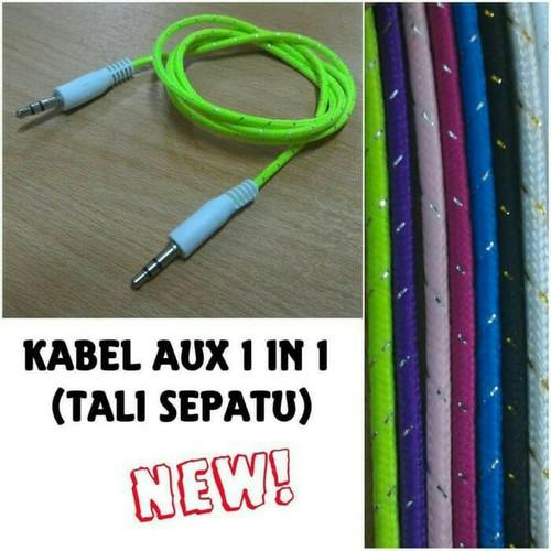 """Foto Produk Kabel Aux 1 In 1 Tali Sepatu 3.5"""" Kabel Audio Single dari Raja Aksesoris Grosir"""