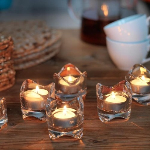 Foto Produk Tempat Lilin Kaca Elegant Transparant Cantik Candle Holder - tempat lilin dari TwilightShop