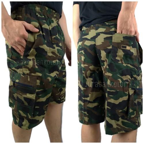 Foto Produk Celana Pendek Pria Cargo 3/4 Loreng Army -MTR.LRG.STD dari JuraganKolor