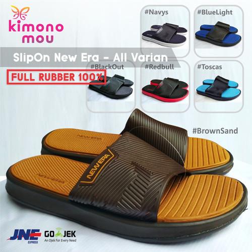 Foto Produk Sandal Sendal Pria Cowok - SlipOn New Era Slop - Karet - New Elegant - BrowndSand, 39 dari Kimono Mou