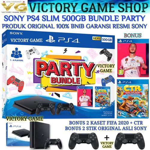 Foto Produk SONY PS4 SLIM 500GB/ PS 4/ PLAYSTATION 4 + STIK ORI WIRELESS dari Victory Game