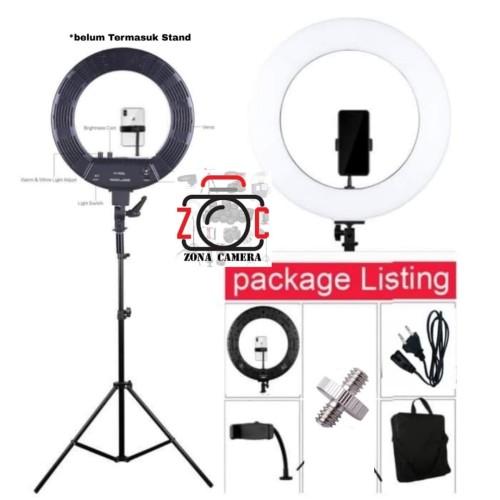 Foto Produk Ring Light 18 Inch Peyond Bi-Color Ringlight Ringlite With 2 Dimmer dari zona camera