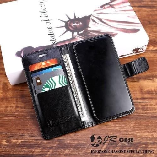 Foto Produk Flip Case Oppo A9 2020 Leather / Oppo A5 2020 Wallet Dompet Kulit - Hitam dari Kirisaki
