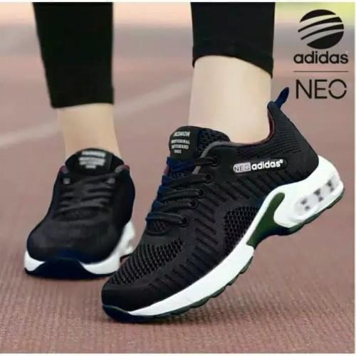 Foto Produk sepatu sneaker kets wanita adidas hitam sport ready no 37 38 39 40 dari MALKAN STORE