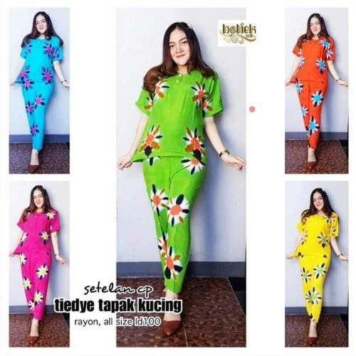 Foto Produk Setelan celana batik / piyama batik / baju tidur wanita dari RisqianaBatik