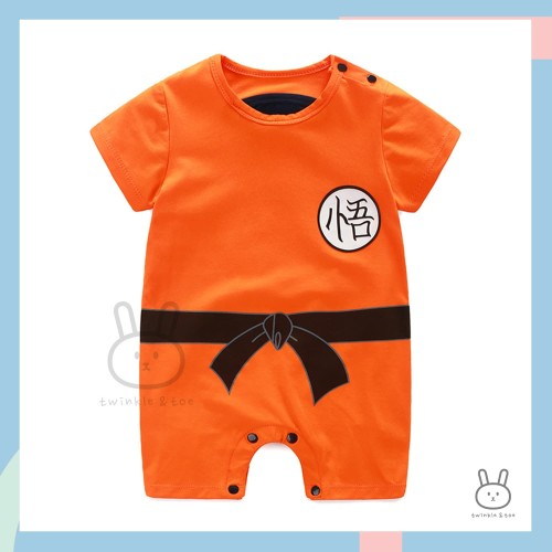 Foto Produk Baju Romper / Jumper Anak Bayi Laki-laki Anime Goku Dragon Ball - 0-3 Bulan dari Twinkle & Toe