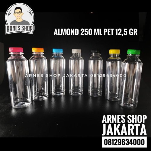 Foto Produk Botol Plastik Almond 250 ml SN PET dari Arnes Shop Jakarta