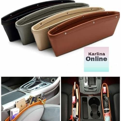 Foto Produk Wadah Kulit Tempat Hp Kartu E Toll Samping Jok Mobil Car Seat Organize dari Karlina Online