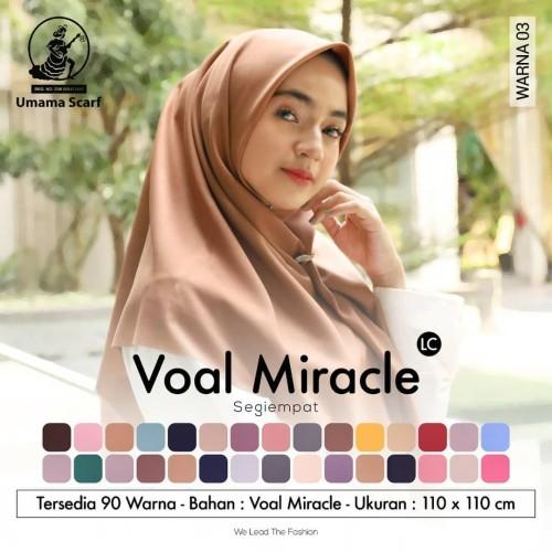 Foto Produk [Part 1] Hijab VOAL MIRACLE PLAIN UMAMA/ Segi empat Lacer Cut dari lemary_nunna