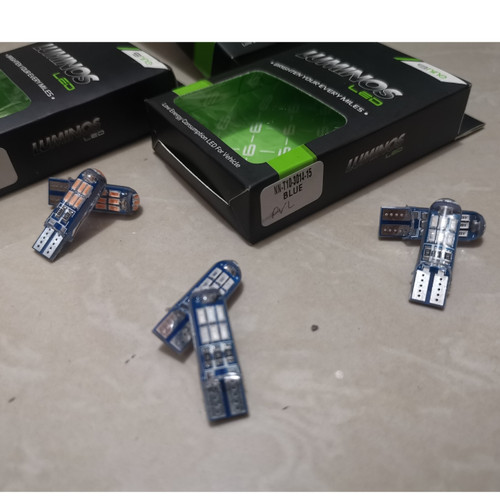 Foto Produk Lampu Senja Kota Sein T10 15 Titik Luminos LED Crystal Sepasang - Biru dari Lestari Motor 2
