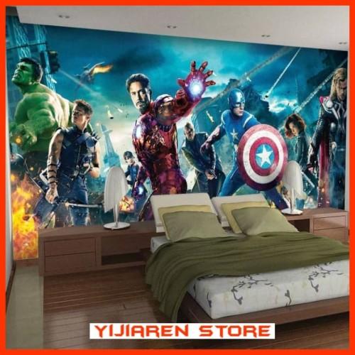 Foto Produk 3D Wallpaper Dinding Wall Sticker Custom Avengers dari Yijiaren Store
