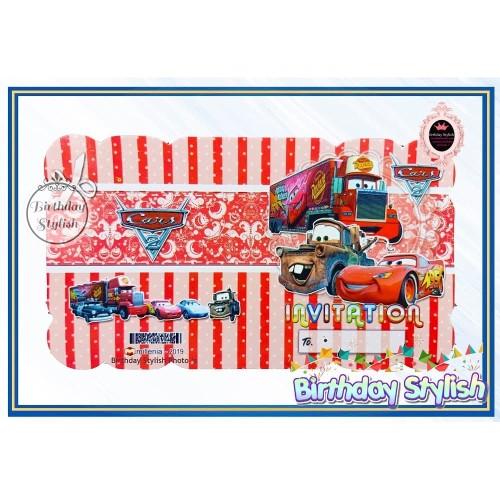 Foto Produk Kartu Undangan Ultah/ Ulang Tahun Anak Karakter Cars Lipat 2 dari Birthday Stylish