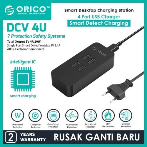 Foto Produk ORICO DCV-4U 4 Port USB Charger - BLACK dari ORICO INDONESIA
