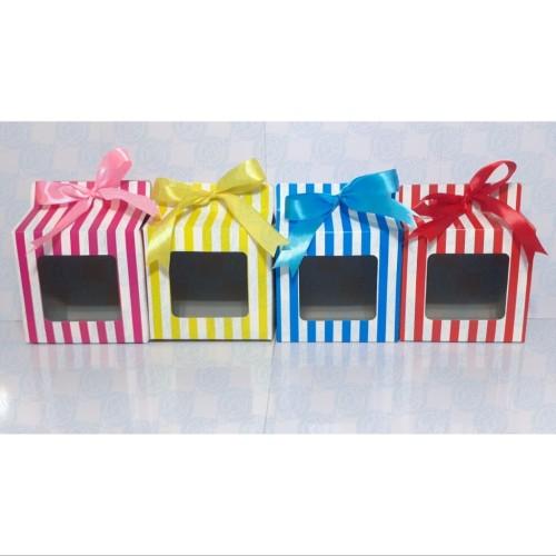 Foto Produk Dus Mug Strip Warna / Box Mug Strip Warna - Hijau dari amanah productions