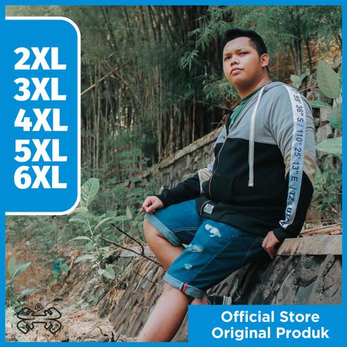 Foto Produk JAKET ZIPPER HOODIE PRIA JUMBO BIG SIZE BAHAN KATUN PRIA XL-6XL - 5XL dari outlet_bigsize
