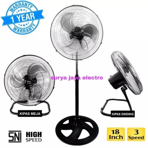 """Foto Produk kipas angin besi TORNADO AOYAMA 18"""" 3 in1 bisa duduk dinding n berdiri dari surya jaya electro"""