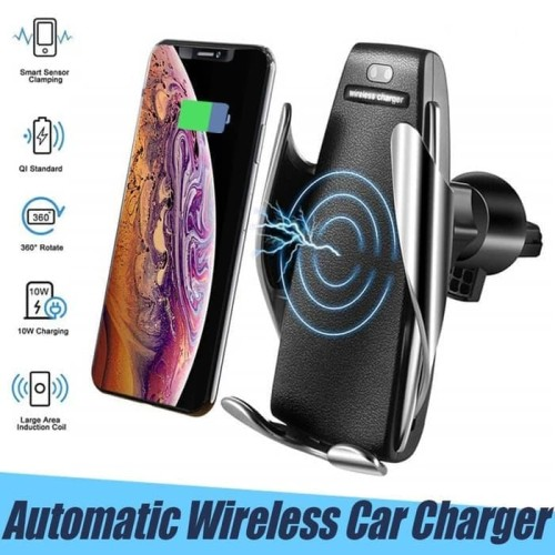 Foto Produk Wireless Car Charger Air Vent Smart Sensor Mount Holder Mobil 10W S5 dari B.GADGET