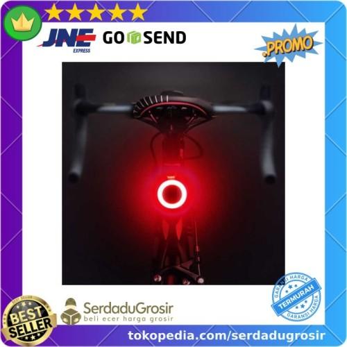 Foto Produk Zacro Lampu Sepeda Belakang Tail Light LED Bicycle Bisa Dicas USB dari SERDADU GROSIR