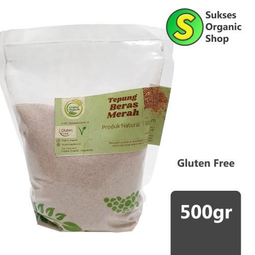 Foto Produk Tepung Beras Merah | Lingkar Organik | 500gr dari Sukses Organic