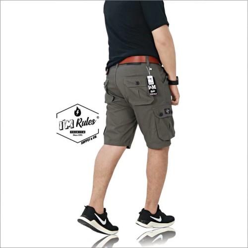 Foto Produk celana cargo pria pendek terlaris premium - Abu-abu dari playjeans