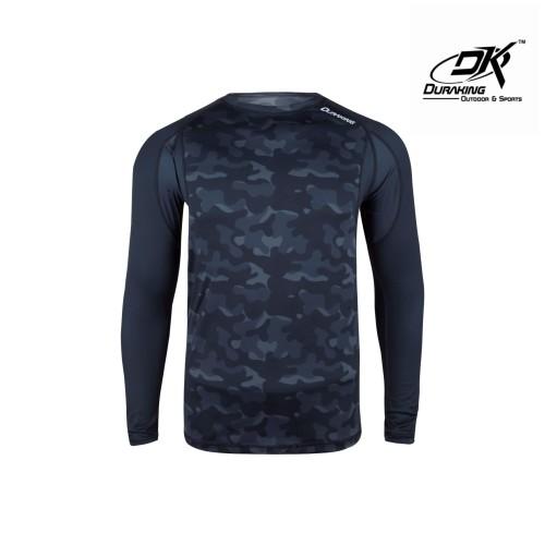 Foto Produk DK Fishing Jersey LS (Man) Dark Camou Rashguard Dark Grey - M dari Duraking Outdoor&Sports
