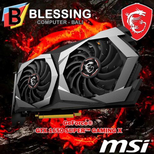 Foto Produk VGA MSI GTX 1650 SUPER GAMING X / VGA MSI GTX 1650 4GB SUPER GAMING X dari Blessing Computer Bali