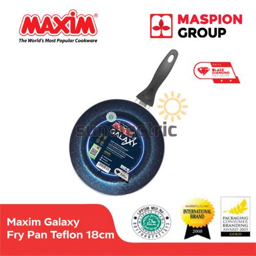 Foto Produk Maxim Galaxy Frypan Wajan Penggorengan Teflon Anti Lengket 18 cm dari SUN ELECTRIC