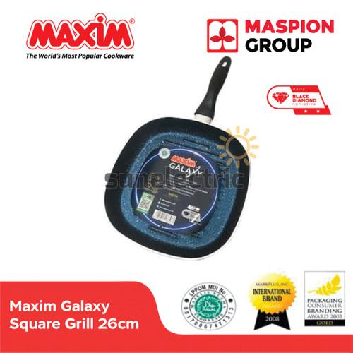 Foto Produk Maxim Galaxy Square Grill Wajan Penggorengan Pemanggang 26 cm dari SUN ELECTRIC