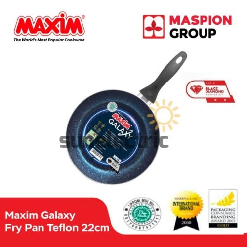 Foto Produk Maxim Galaxy Frypan Wajan Penggorengan Teflon Anti Lengket 22 cm dari SUN ELECTRIC