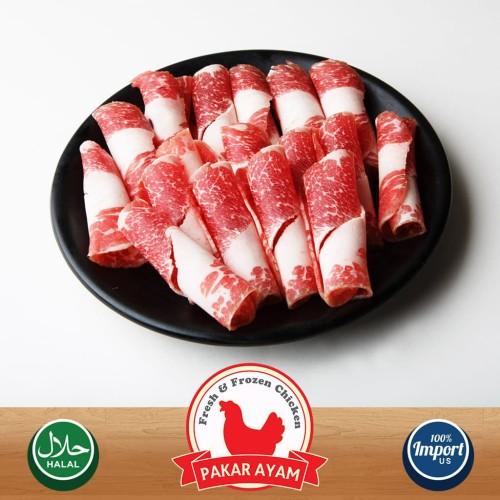 Foto Produk Daging Sapi Slice US Yoshinoya / Shabu Sliced Beef Kemasan 250gr dari Pakar Ayam